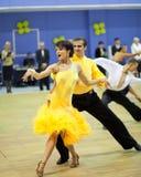 Competición de deporte del baile de los pares Foto de archivo libre de regalías