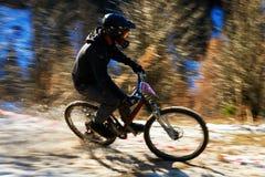 Competición de la bici de montaña Fotos de archivo libres de regalías