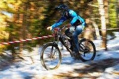 Competición de la bici de montaña Imagen de archivo libre de regalías