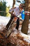 Competición de la bici de montaña Imágenes de archivo libres de regalías