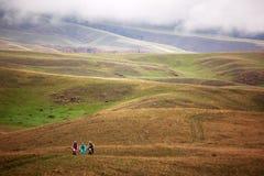 Competición de la bici de montaña de la aventura del resorte Fotos de archivo