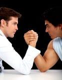 Competición de la lucha del brazo Foto de archivo