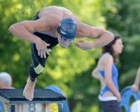 Competición de la natación Foto de archivo