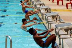 Competición de la natación Fotos de archivo libres de regalías
