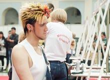 Competición de los peinados 10 del hombre creativo Imagen de archivo libre de regalías