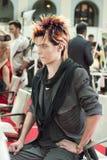 Competición de los peinados 11 del hombre creativo Fotografía de archivo libre de regalías