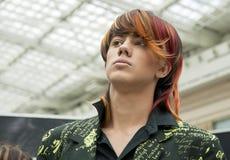 Competición de los peinados 2 del hombre creativo Fotos de archivo libres de regalías