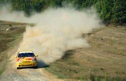 Competición de Rallye foto de archivo