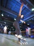 Competición de Rollerblading Imagenes de archivo