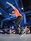 Competición de Rollerblading imagen de archivo