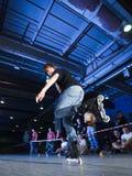 Competición de Rollerblading foto de archivo libre de regalías