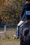 Competición de salto del caballo fotos de archivo