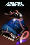 Competición del atletismo ilustración del vector