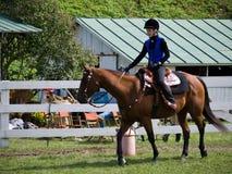 Competición del caballo en la feria de mundo de Tunbridge Imágenes de archivo libres de regalías