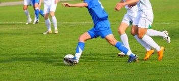 Competición del fútbol Imagen de archivo