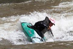 Competición del Kayaker Fotografía de archivo libre de regalías