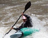 Competición del Kayaker Imagen de archivo libre de regalías