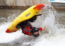 Competición del Kayaker Imágenes de archivo libres de regalías
