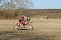 Competición del motocrós Imagen de archivo