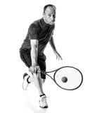 Competición del tenis Action Foto de archivo libre de regalías