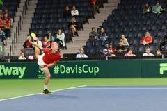 Competición del tenis Serve Foto de archivo