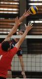 Competición del voleibol de los hombres Imagen de archivo libre de regalías