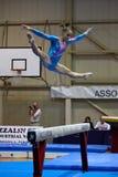 Competición internacional de la gimnasia artística Fotos de archivo