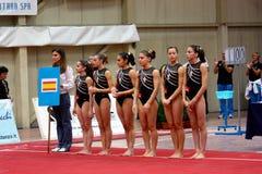 Competición internacional de la gimnasia artística Fotografía de archivo libre de regalías