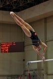 Competición internacional de la gimnasia artística Foto de archivo