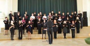 Competición local del coro Imágenes de archivo libres de regalías