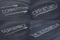 Competición, oportunidad, determinación Imágenes de archivo libres de regalías