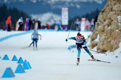 Competidor del esquí del Biathlon fotografía de archivo libre de regalías