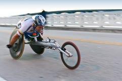 Competidor del sillón de ruedas fotos de archivo