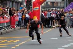 Competidor dos en velocidad completa Foto de archivo