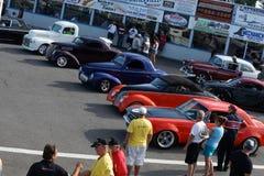 Competidores de la demostración de coche Imagen de archivo libre de regalías