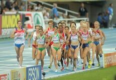 Competidores de las mujeres de los 5000m fotografía de archivo