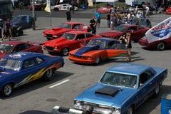 Competidores de los coches de la fricción Fotografía de archivo