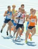 Competidores de los hombres de los 800m imágenes de archivo libres de regalías