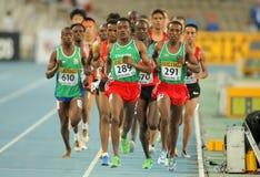 Competidores en 5000 metros foto de archivo