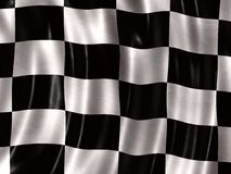 Competindo a bandeira Foto de Stock Royalty Free