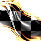 Competindo a bandeira Imagem de Stock Royalty Free