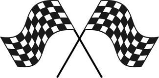 Competindo a bandeira quadriculado para seu projeto ou logotipo imagens de stock royalty free