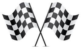 Competindo bandeiras Imagens de Stock Royalty Free