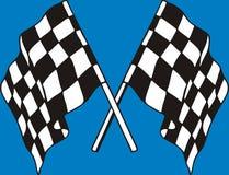 Competindo bandeiras Fotos de Stock Royalty Free