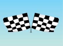 Competindo bandeiras Fotos de Stock