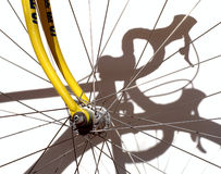 Competindo a bicicleta Fotografia de Stock