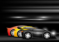 Competindo carros de esportes ilustração royalty free