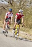 Competindo ciclistas Fotografia de Stock