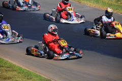 Competindo Karts Foto de Stock