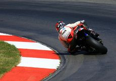 Competindo a motocicleta Imagens de Stock Royalty Free